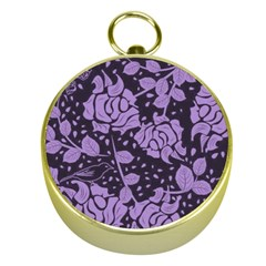 Floral Wallpaper Purple Gold Compasses by ImpressiveMoments