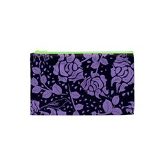 Floral Wallpaper Purple Cosmetic Bag (XS) by ImpressiveMoments