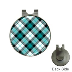 Smart Plaid Teal Hat Clips With Golf Markers by ImpressiveMoments