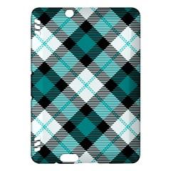 Smart Plaid Teal Kindle Fire HDX Hardshell Case by ImpressiveMoments