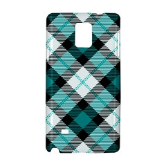 Smart Plaid Teal Samsung Galaxy Note 4 Hardshell Case