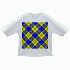 Smart Plaid Blue Yellow Infant/Toddler T-Shirts