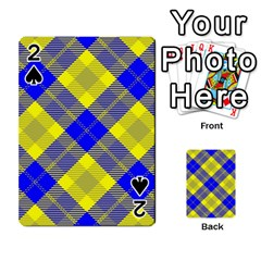 Smart Plaid Blue Yellow Playing Cards 54 Designs  by ImpressiveMoments