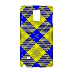 Smart Plaid Blue Yellow Samsung Galaxy Note 4 Hardshell Case by ImpressiveMoments