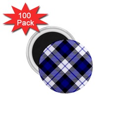 Smart Plaid Blue 1.75  Magnets (100 pack)  by ImpressiveMoments