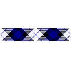 Smart Plaid Blue Flano Scarf (large)  by ImpressiveMoments