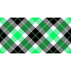 Smart Plaid Green You Are Invited 3d Greeting Card (8x4)