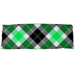 Smart Plaid Green Body Pillow Cases Dakimakura (two Sides)  by ImpressiveMoments