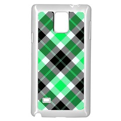 Smart Plaid Green Samsung Galaxy Note 4 Case (white) by ImpressiveMoments