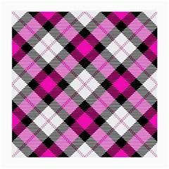 Smart Plaid Hot Pink Medium Glasses Cloth (2 Side) by ImpressiveMoments