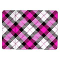 Smart Plaid Hot Pink Samsung Galaxy Tab 10.1  P7500 Flip Case by ImpressiveMoments