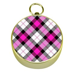 Smart Plaid Hot Pink Gold Compasses by ImpressiveMoments