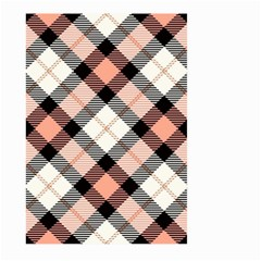 Smart Plaid Peach Large Garden Flag (two Sides) by ImpressiveMoments