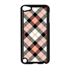 Smart Plaid Peach Apple Ipod Touch 5 Case (black) by ImpressiveMoments