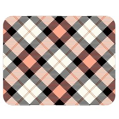 Smart Plaid Peach Double Sided Flano Blanket (medium)  by ImpressiveMoments