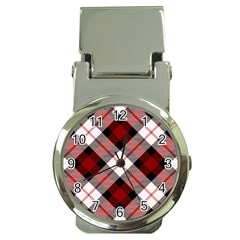 Smart Plaid Red Money Clip Watches by ImpressiveMoments