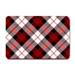 Smart Plaid Red Small Doormat  by ImpressiveMoments