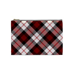 Smart Plaid Red Cosmetic Bag (Medium)  by ImpressiveMoments