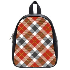 Smart Plaid Warm Colors School Bags (small)  by ImpressiveMoments