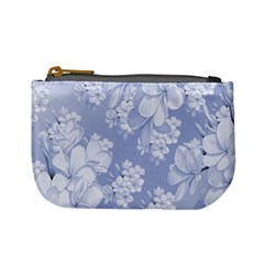 Delicate Floral Pattern,blue  Mini Coin Purses by MoreColorsinLife