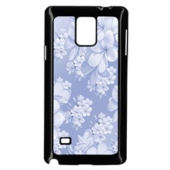 Delicate Floral Pattern,blue  Samsung Galaxy Note 4 Case (black) by MoreColorsinLife