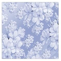 Delicate Floral Pattern,blue  Large Satin Scarf (Square) by MoreColorsinLife