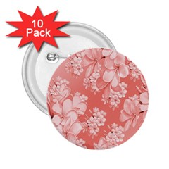 Delicate Floral Pattern,pink  2 25  Buttons (10 Pack)  by MoreColorsinLife