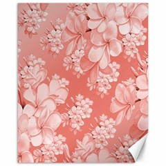Delicate Floral Pattern,pink  Canvas 16  X 20   by MoreColorsinLife