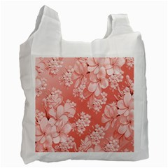 Delicate Floral Pattern,pink  Recycle Bag (two Side)  by MoreColorsinLife