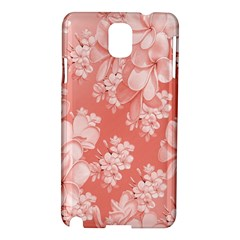 Delicate Floral Pattern,pink  Samsung Galaxy Note 3 N9005 Hardshell Case by MoreColorsinLife