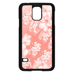 Delicate Floral Pattern,pink  Samsung Galaxy S5 Case (black) by MoreColorsinLife