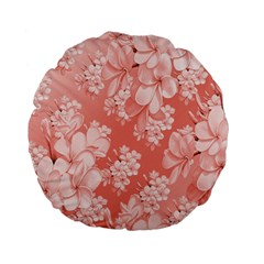 Delicate Floral Pattern,pink  Standard 15  Premium Flano Round Cushions by MoreColorsinLife