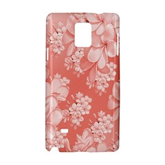 Delicate Floral Pattern,pink  Samsung Galaxy Note 4 Hardshell Case by MoreColorsinLife