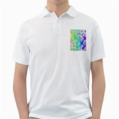 Delicate Floral Pattern,rainbow Golf Shirts by MoreColorsinLife
