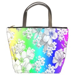 Delicate Floral Pattern,rainbow Bucket Bags by MoreColorsinLife