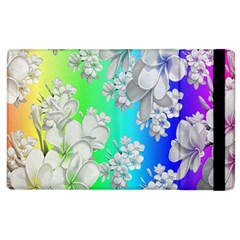 Delicate Floral Pattern,rainbow Apple Ipad 2 Flip Case by MoreColorsinLife