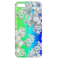 Delicate Floral Pattern,rainbow Apple Iphone 5 Hardshell Case With Stand by MoreColorsinLife