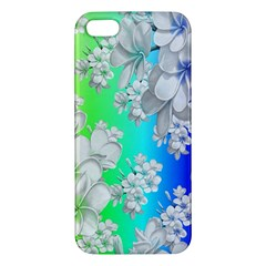 Delicate Floral Pattern,rainbow Iphone 5s Premium Hardshell Case by MoreColorsinLife