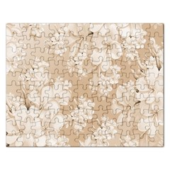 Delicate Floral Pattern,softly Rectangular Jigsaw Puzzl by MoreColorsinLife