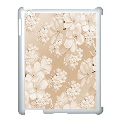 Delicate Floral Pattern,softly Apple Ipad 3/4 Case (white) by MoreColorsinLife
