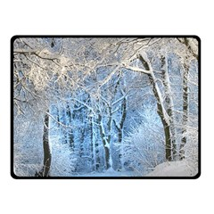 Another Winter Wonderland 1 Double Sided Fleece Blanket (small)  by MoreColorsinLife