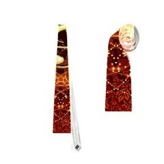 Decorative Cllef With Floral Elements Neckties (two Side)  by FantasyWorld7
