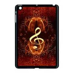 Decorative Cllef With Floral Elements Apple Ipad Mini Case (black) by FantasyWorld7