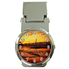 Stunning Sunset On The Beach 2 Money Clip Watches by MoreColorsinLife