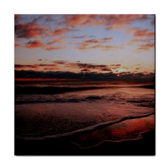 Stunning Sunset On The Beach 3 Tile Coasters by MoreColorsinLife