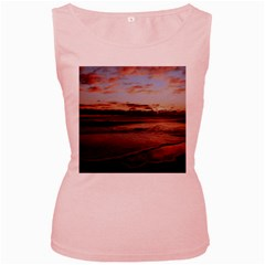 Stunning Sunset On The Beach 3 Women s Pink Tank Tops by MoreColorsinLife