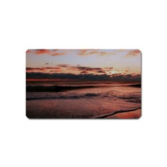 Stunning Sunset On The Beach 3 Magnet (name Card) by MoreColorsinLife