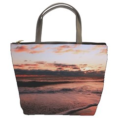 Stunning Sunset On The Beach 3 Bucket Bags by MoreColorsinLife