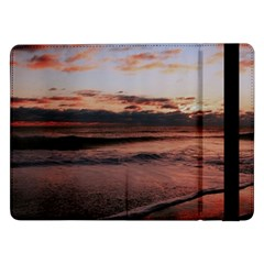 Stunning Sunset On The Beach 3 Samsung Galaxy Tab Pro 12.2  Flip Case by MoreColorsinLife