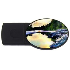 Stunning Nature Evening USB Flash Drive Oval (1 GB)  by MoreColorsinLife